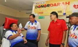 Donor Darah PWI Jabar Sukses Jaring Ratusan Pendonor