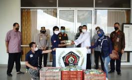 Kegiatan Baksos PWI Peduli Ciamis Bagi-Bagi Nasi Box di Kota Banjar