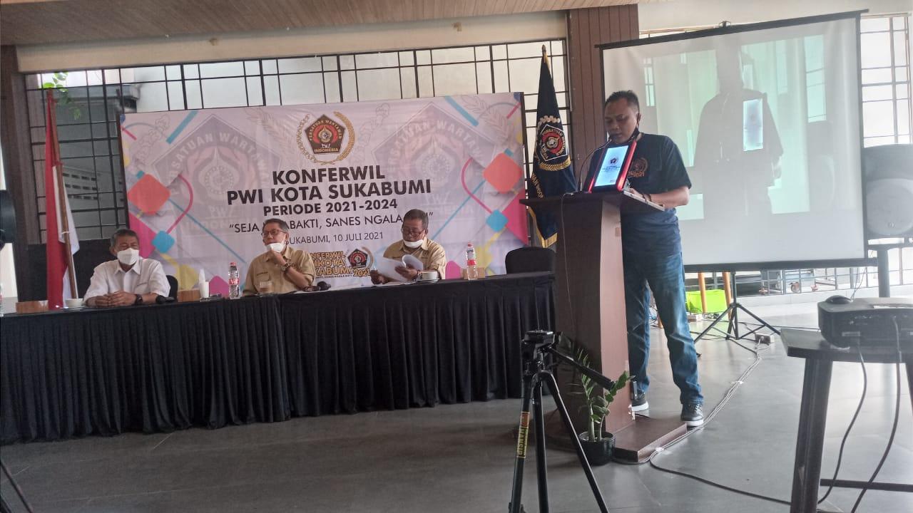 Konferwil PWI Kota Sukabumi Dibuka Secara Virtual Oleh Walikota Achmad Fahmi
