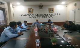 Pengurus PWI Kota Depok Bersilaturahmi ke Kantor Imigrasi Depok