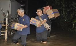 PWI Kota Bandung Salurkan Bantuan bagi Korban Banjir