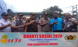 PWI Subang Salurkan Bantuan bagi Korban Banjir